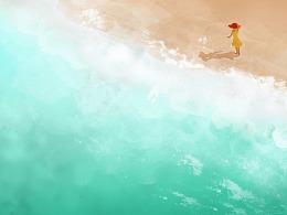 一个人看海