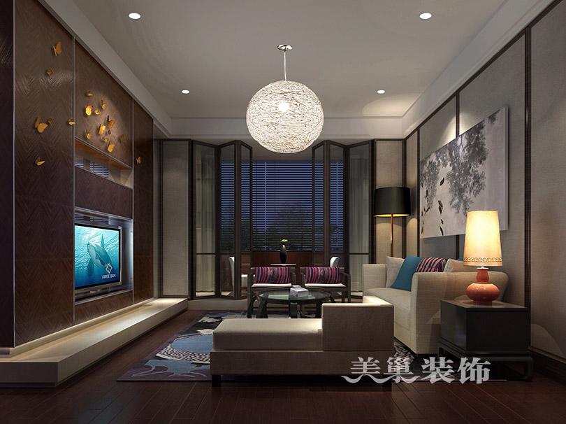 锦绣山河140平四室两厅新中式装修案例