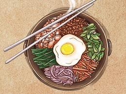为餐饮品牌【全州拌饭】logo/海报设计