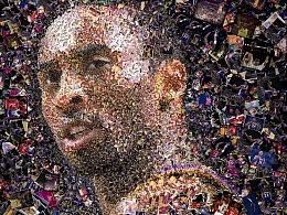 Charis Tsevis为篮球巨星科比Kobe Bryant创作的肖像画