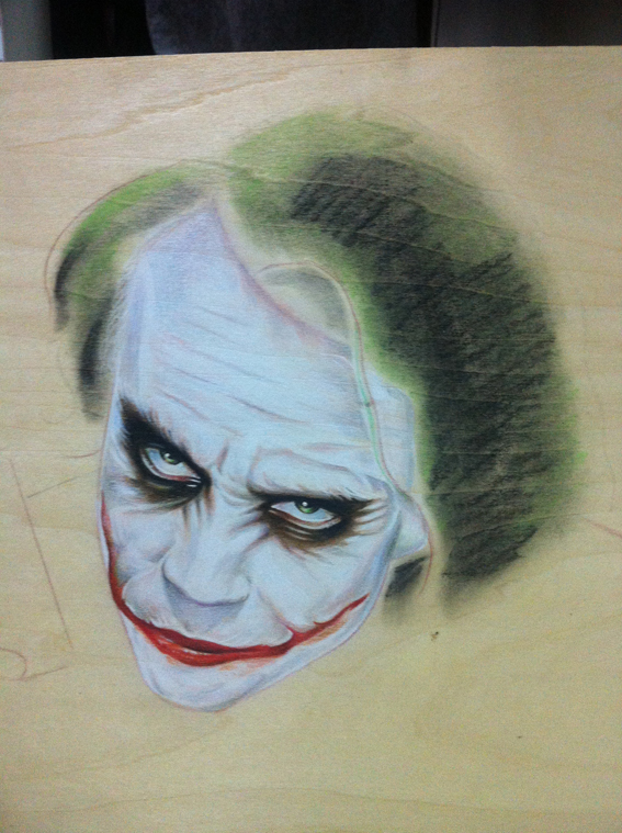 彩铅水溶画—joker小丑|彩铅|纯艺术|李健秋