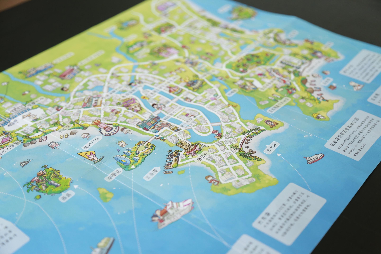 三亚手绘地图|插画|商业插画|石头人手绘旅行册