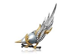 异形珍珠鸟胸针设计定制过程记录