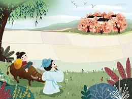 儿童插画平面风