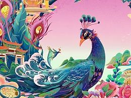 滇南印象-咚咚食品包装插画
