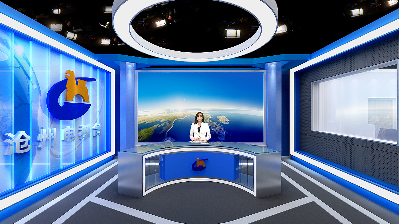 虚拟演播室,实体演播室,融媒体中心设计图片