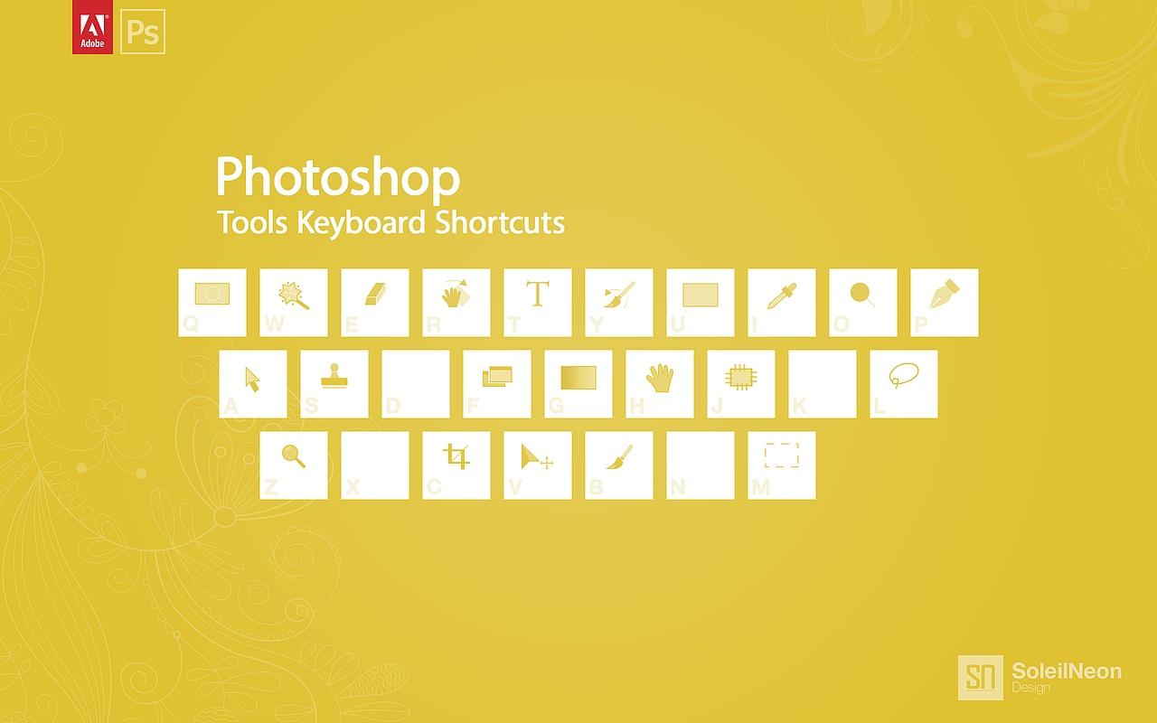 photoshop快捷键简约壁纸设计图片