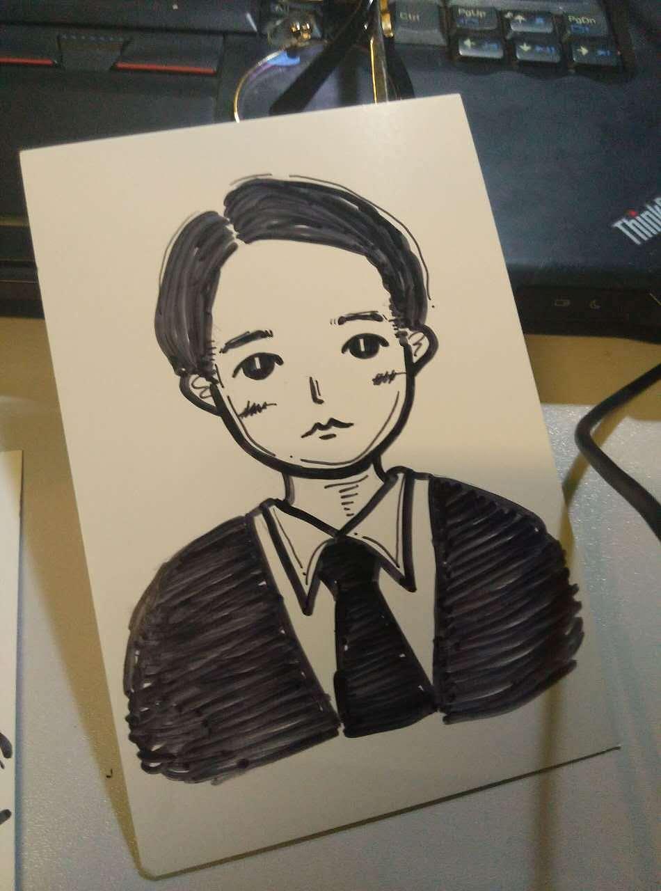 手绘人物q版卡通