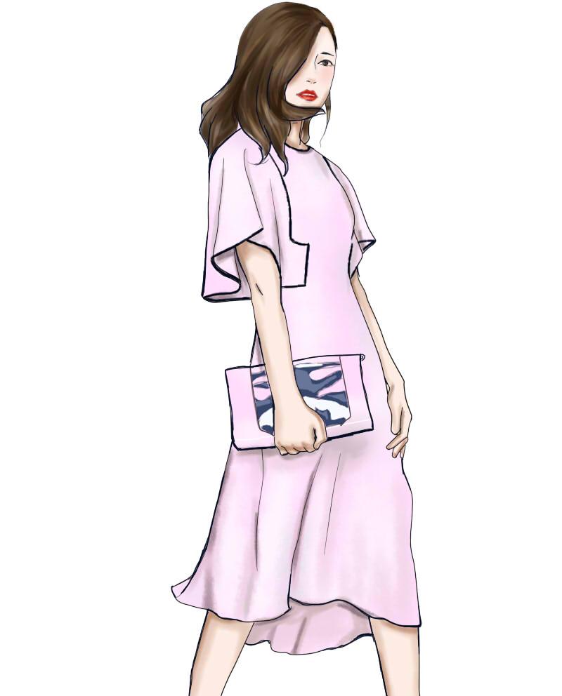 手绘服装插图
