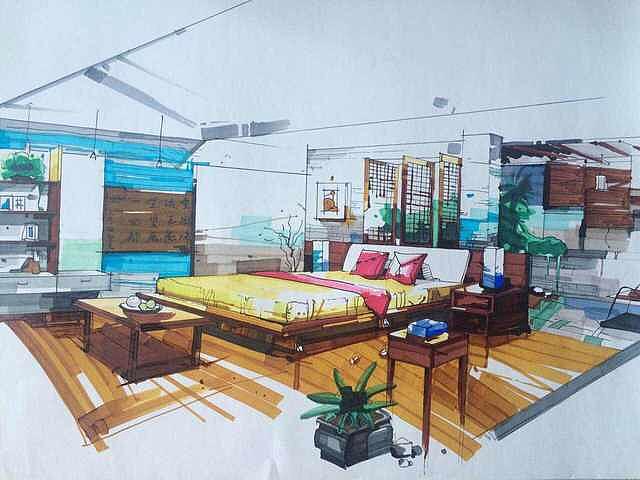 手绘|空间|室内设计|lamb10 - 原创作品 - 站酷