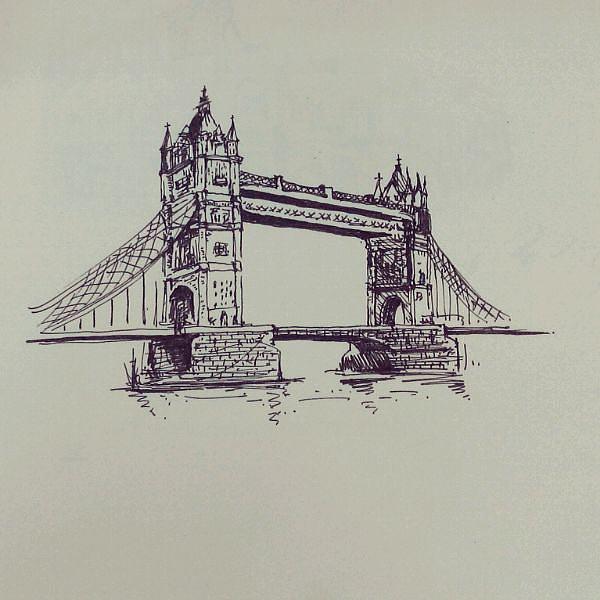 手绘桥梁图片大全