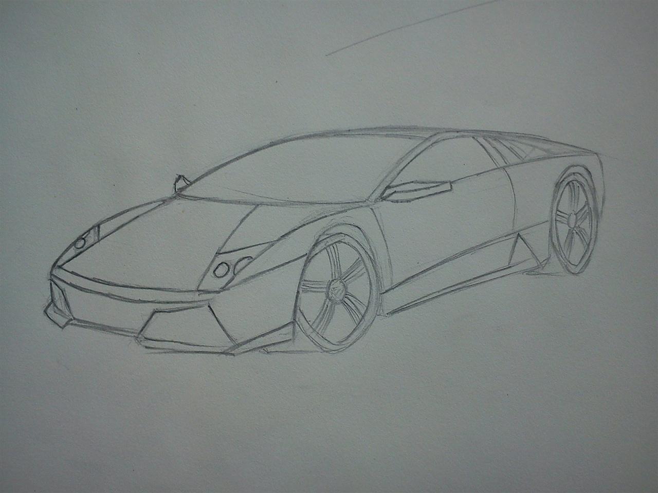 汽车素描简笔画