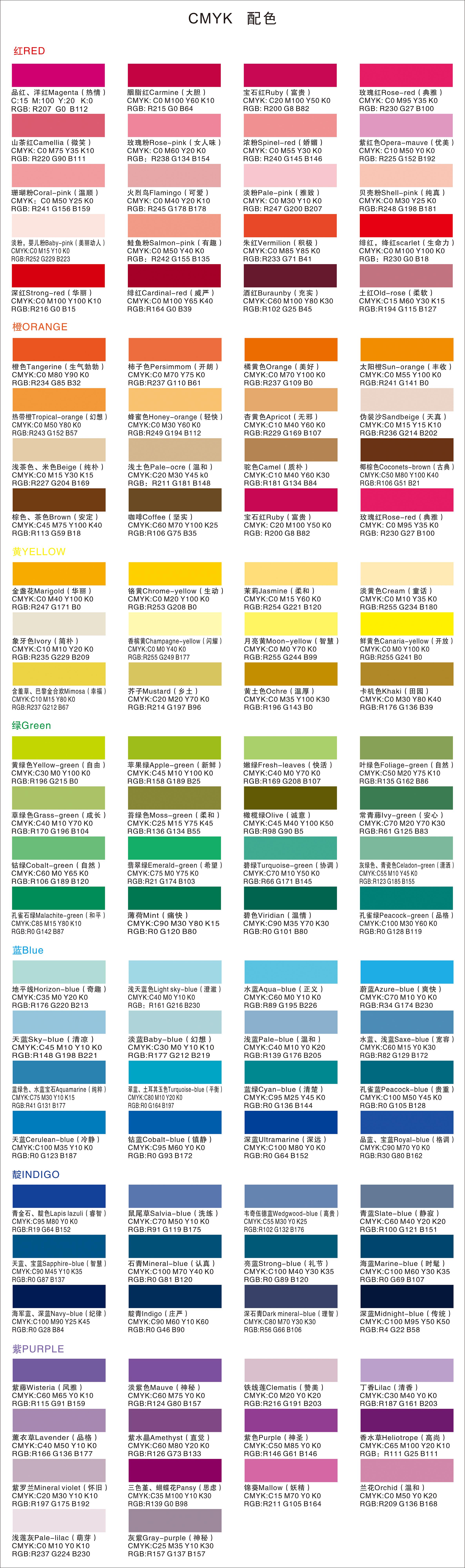 类似色相配色_色相环以及配色表
