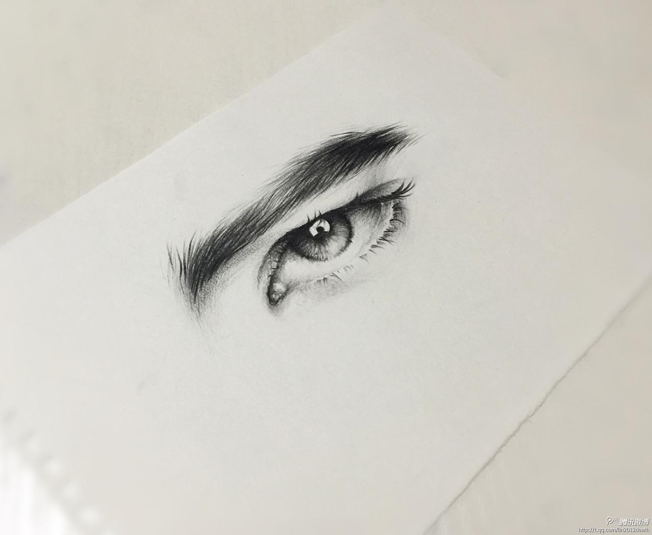 彩铅手绘眼睛-心灵的窗户