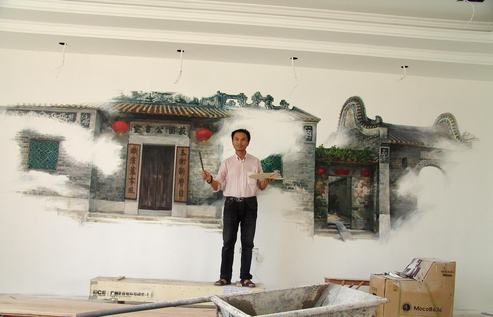 墙体彩绘 手绘墙 壁画