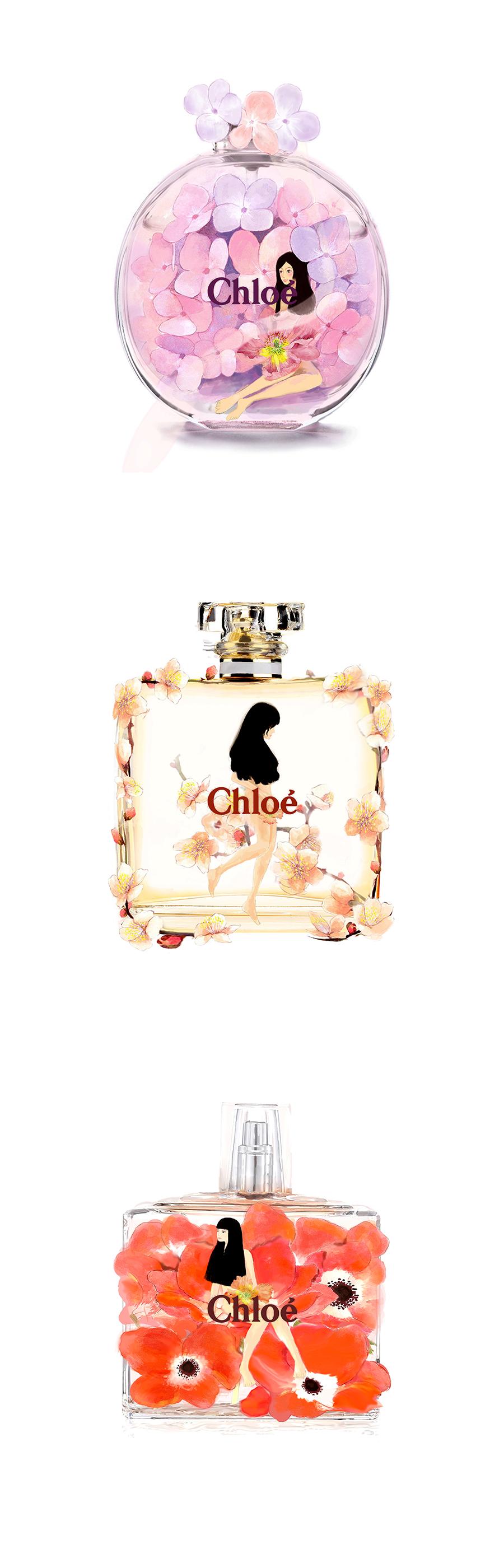 chloe香水手绘||商业插画|插画|cheeriovivi - 原创