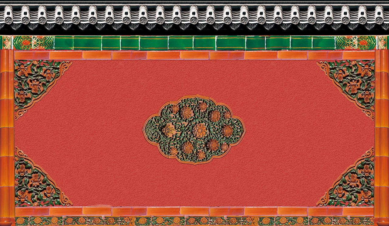 红色,复古,砖墙,故宫,平面,图案,背景,底纹