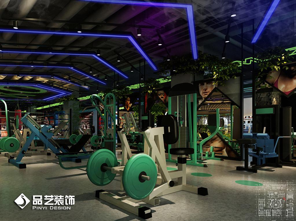 工业loft风健身房装修设计工作室|空间|室内设计