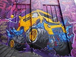 《暴力小黄车》NILone ╳ WALLSKAR涂鸦活动香港站