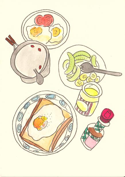 手绘早餐简笔画