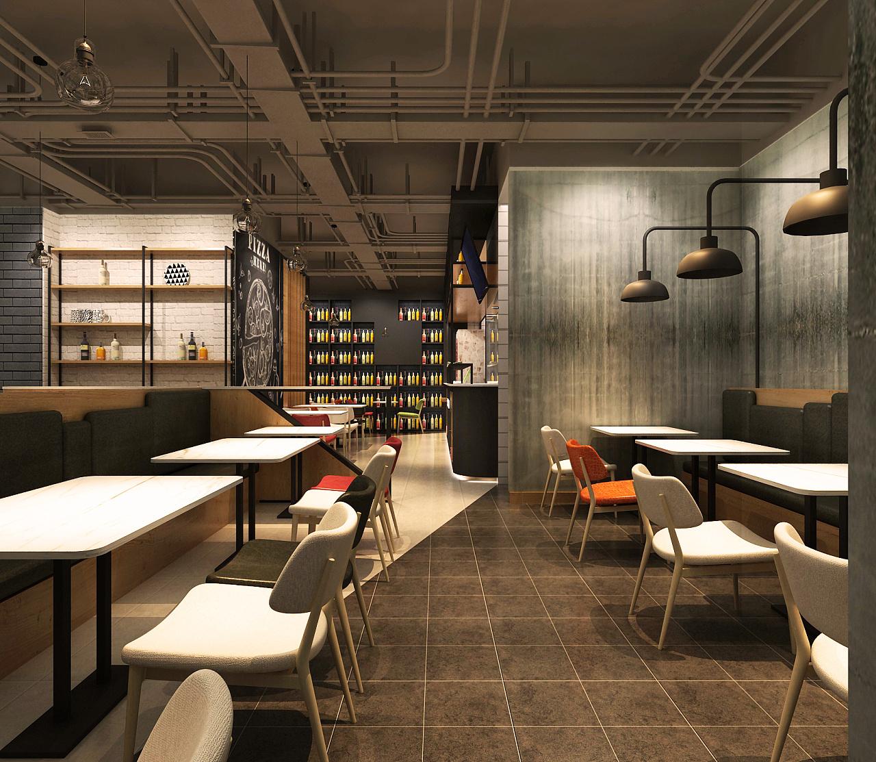 西餐厅 空间 室内设计 道禾老耿 - 原创作品 - 站酷图片