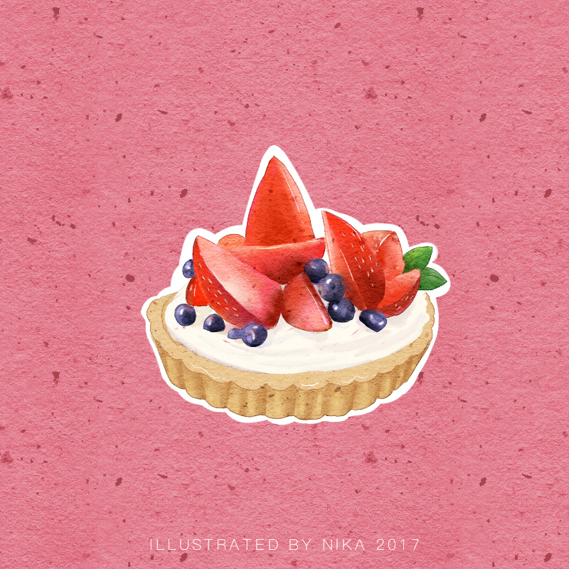 手绘甜品系列