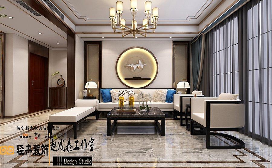 森泰·御城上院 四室三卫 轻奢新中式风格 装修效果图