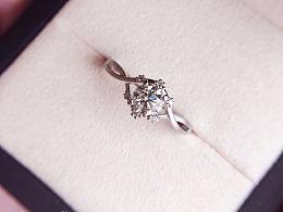 梵尼洛芙珠宝 | 洛可可女王系列求婚钻戒【风铃】