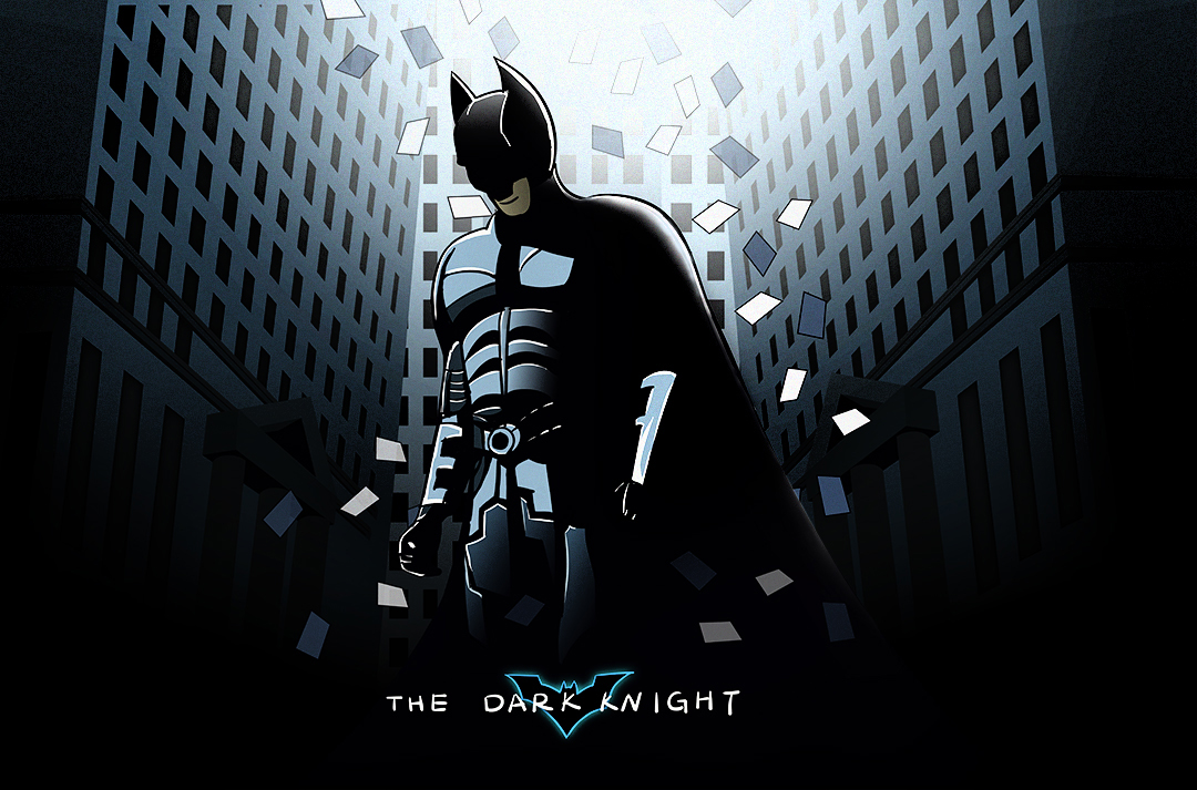 手绘海报—蝙蝠侠