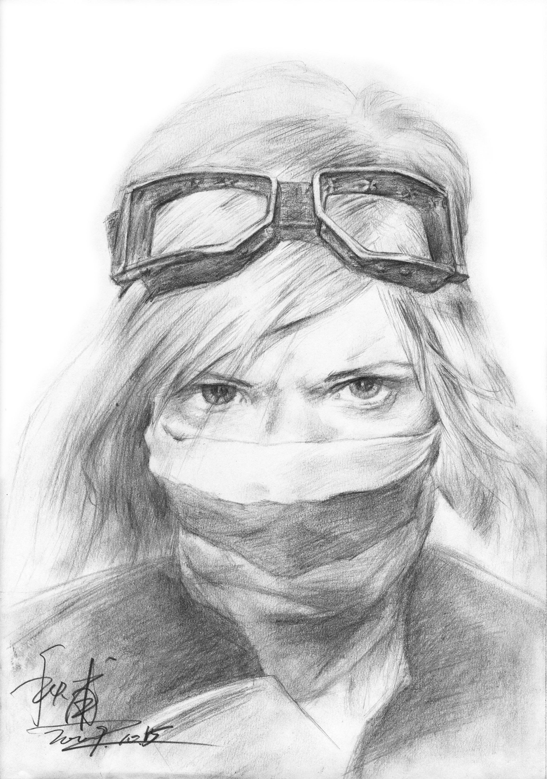 素描 头像 女人图片