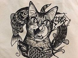 猫×帆布袋