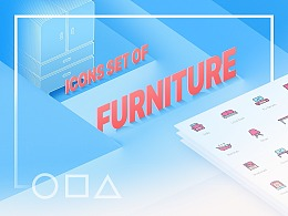 Icons Set of Furniture/家具图标集