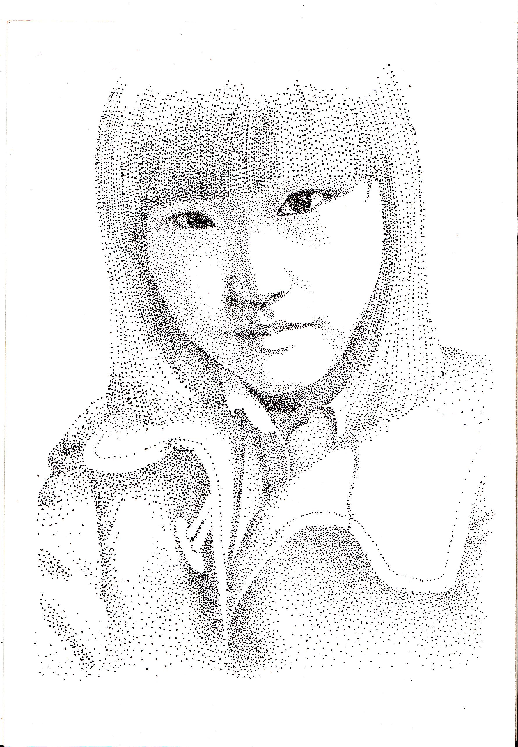 彩手绘人物面部画法