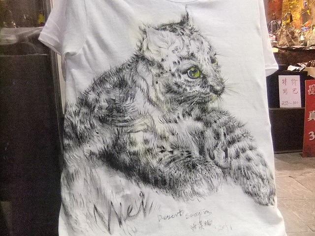 2011深圳最流行的衣服手绘t恤手绘衣服中国播安飞天3d精英团队制作