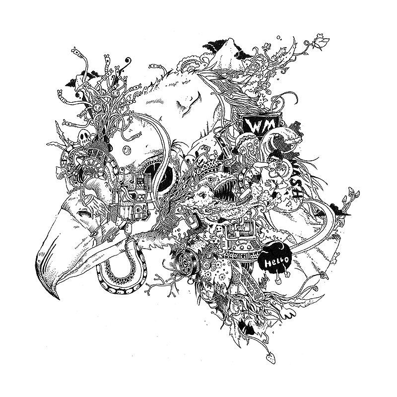神兽/黑白画/鹿/鹰|插画|商业插画|nash欢 - 原创作品 - 站酷 (zco图片