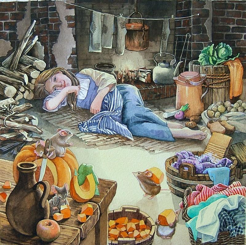 水彩手绘童话故事——灰姑娘|插画|儿童插画|1979水印