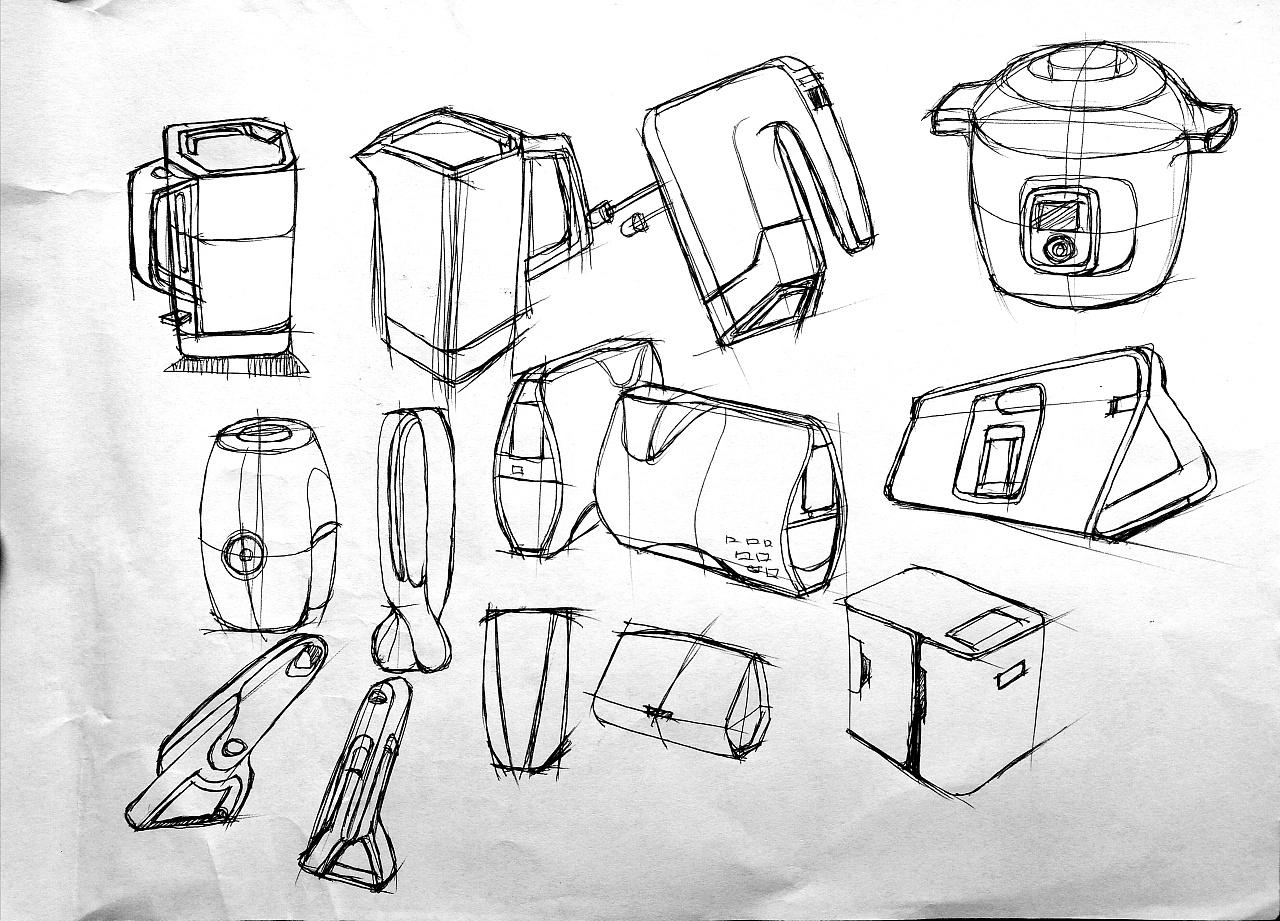 产品手绘练习|工业/产品|电子产品|g_memory - 原创