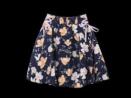 女装裙子拍摄 电商女士裙子 女孩短裙摄影 产品平铺图