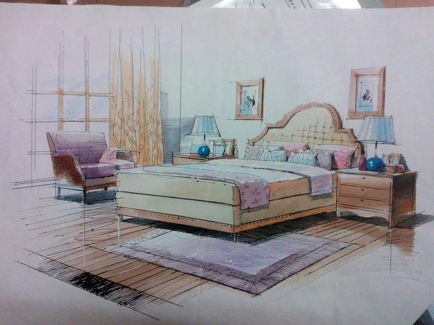 学生时代(室内手绘设计)|绘画习作|插画|mr