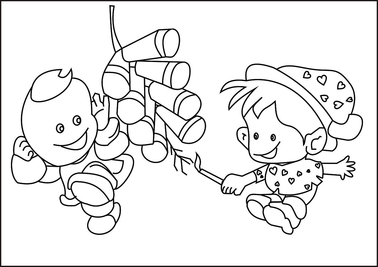 简笔画供儿童上色 图片