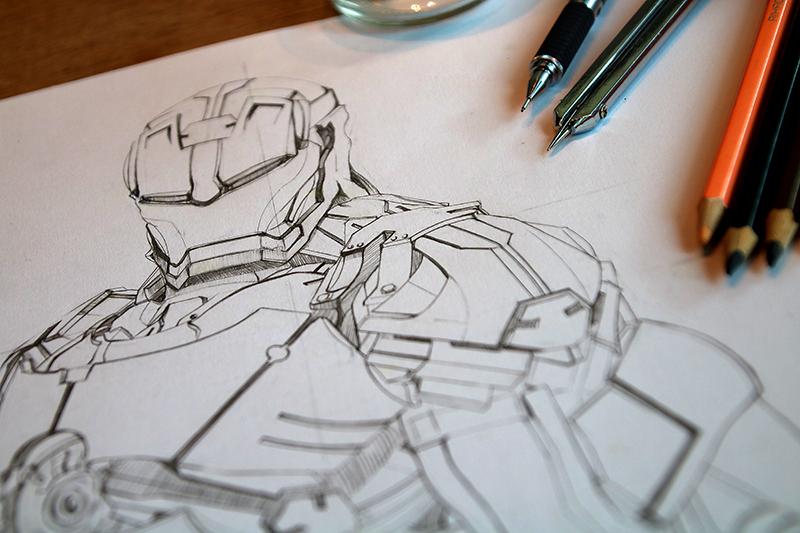 钢铁侠手绘|素描|纯艺术|兜兜卡卡 - 原创设计作品