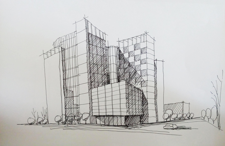 建筑类手绘图