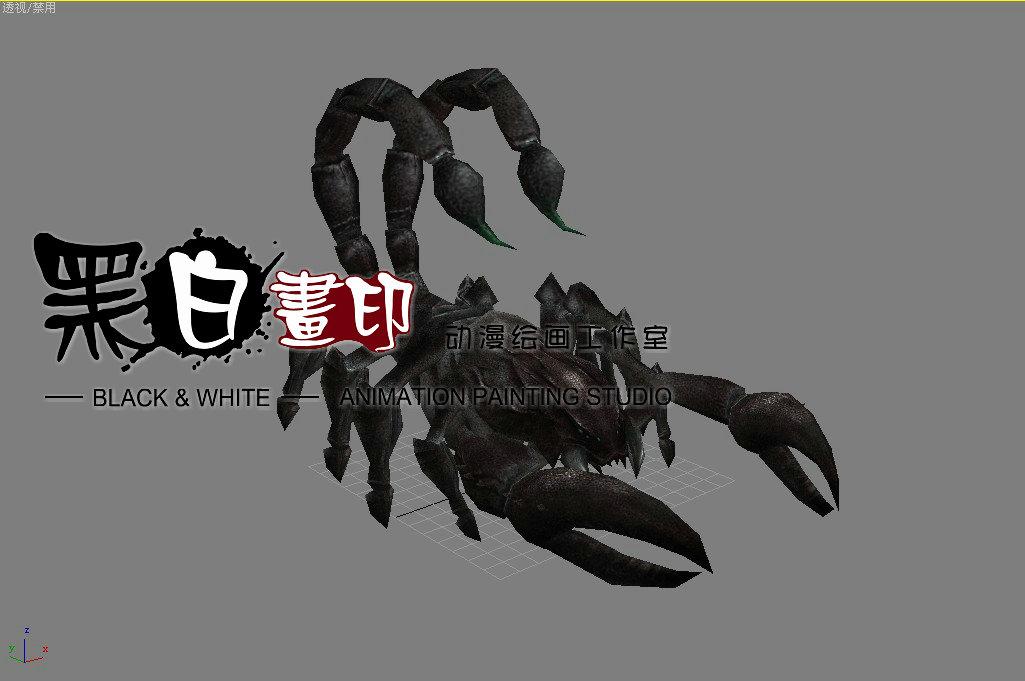 3d_蝎子|三维|场景|黑白画印 - 原创作品 - 站酷