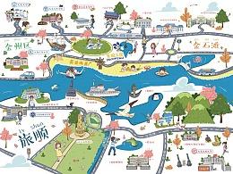 手绘地图-旅顺金石滩高校
