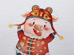 猪年新年贺图【九图汇总】
