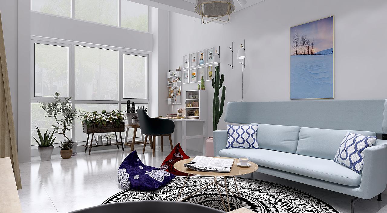 复式|空间|室内设计|马玉涛 - 原创作品 - 站酷