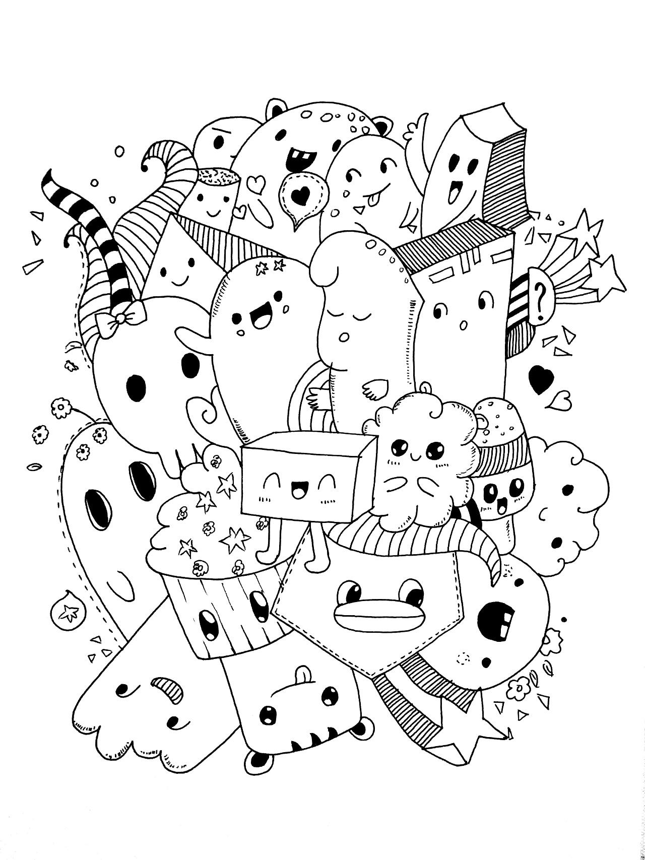 黑白画|纯艺术|钢笔画|耳机陆大大 - 原创作品 - 站酷图片