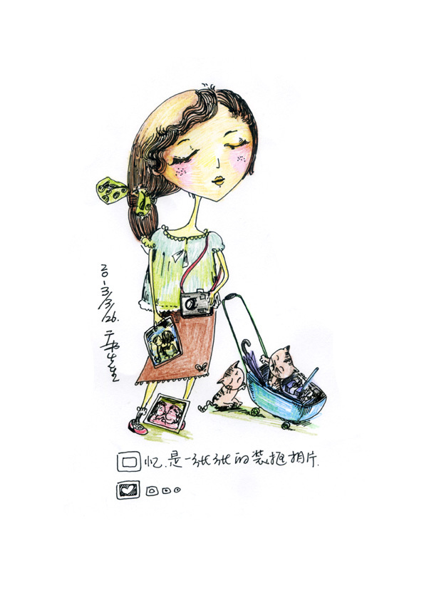 3月一组手绘彩铅|纯艺术|彩铅|飞鸡 - 原创作品