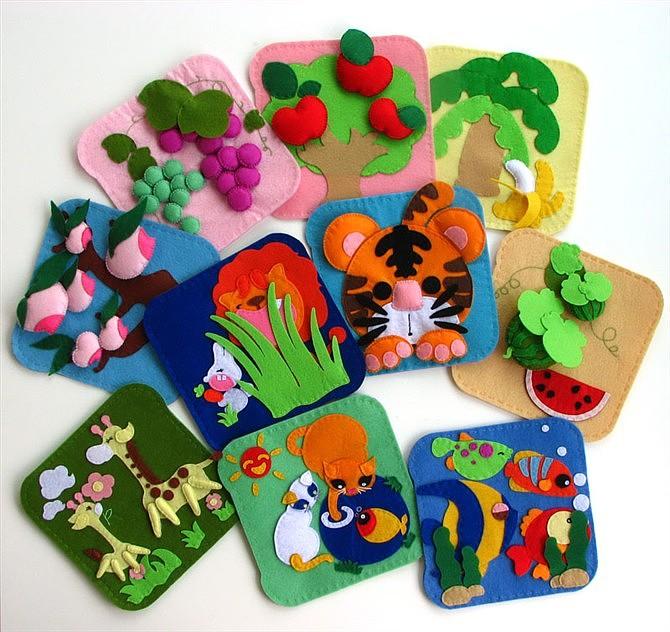 自己设计制作,送给女儿的布书和布艺玩具图片