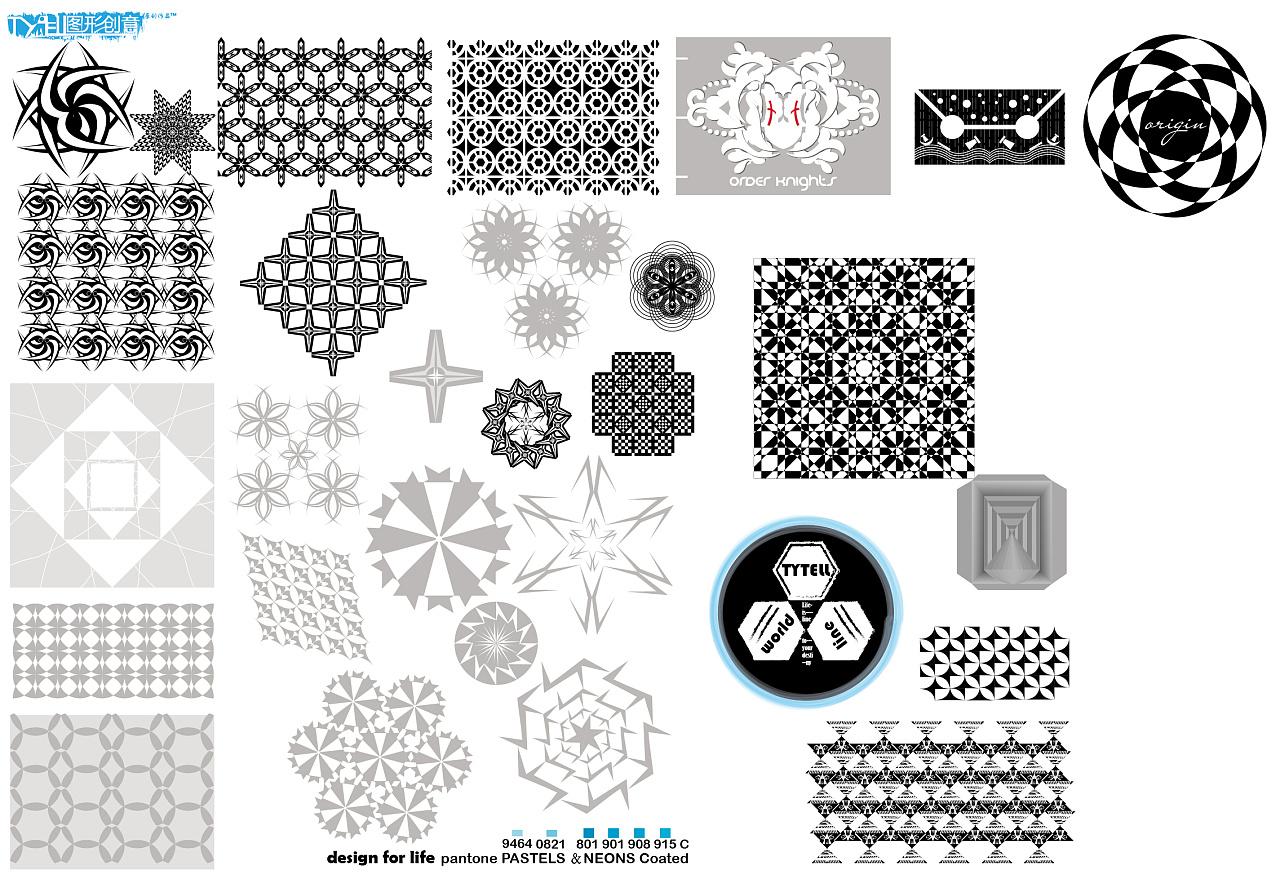 水滴图形创意 平面 图案 derfar - 原创作品 - 站酷图片